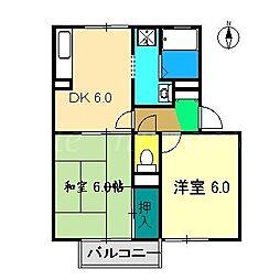 ティアレ中沢[1階]の間取り