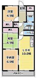 エイコープラザ守口[6階]の間取り