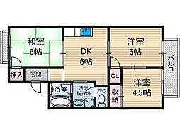 ディアコートJOY2[2階]の間取り