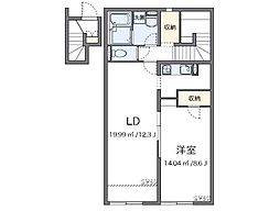 JR赤穂線 播州赤穂駅 徒歩20分の賃貸アパート 2階1LDKの間取り
