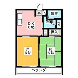 レジデンス青葉[2階]の間取り