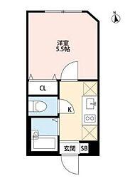 東京都板橋区桜川3丁目の賃貸アパートの間取り
