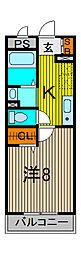 K・Uイールス[2階]の間取り