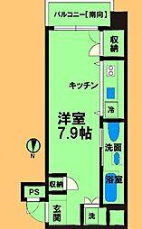 JR横浜線 淵野辺駅 徒歩2分の賃貸マンション 4階ワンルームの間取り