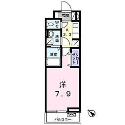 神奈川県秦野市南矢名3丁目の賃貸アパートの間取り