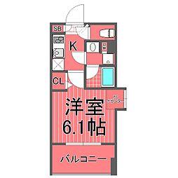 グランドガーラ桜木町駅前[5階]の間取り
