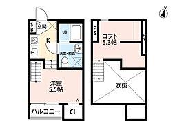 アパートメント友丘[202号室]の間取り