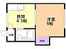 間取り,1DK,面積24m2,賃料2.9万円,バス くしろバス共栄中学校下車 徒歩3分,,北海道釧路市花園町
