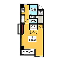 コート・エヴァ・グリーン[2階]の間取り