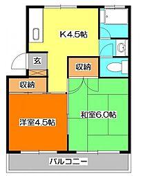 第一昭栄ハイツ[2階]の間取り