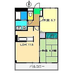 メゾン・ラフィネ[3階]の間取り