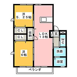 VILLETTA[2階]の間取り