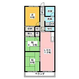 プラザ小幡[6階]の間取り