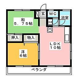 MBCハイツ B[2階]の間取り