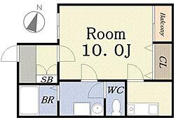 中野ビルII[3階]の間取り