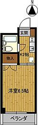 安田学研会館 西棟[101号室]の間取り