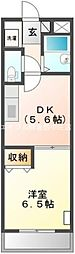 岡山県倉敷市東富井の賃貸マンションの間取り