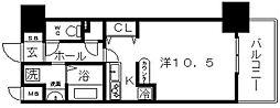 ブランクレール谷町[10階]の間取り