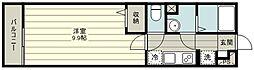 リブリ・シャン・ハイツみずほ台 3階1Kの間取り