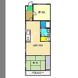 メゾンヤマサキ[4階]の間取り