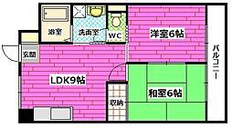 コーポ伊藤[3階]の間取り