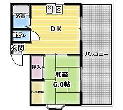 オリエントハイツ[3階]の間取り
