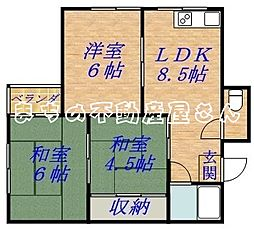 中島マンション[303号室]の間取り