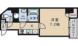 サムティ西長堀リバーフロント[14階]の間取り