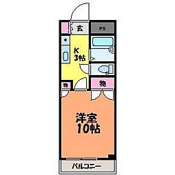 愛媛県松山市小栗7丁目の賃貸マンションの間取り