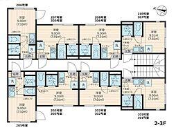 Nano北新宿(ネット無料)[206号室号室]の間取り