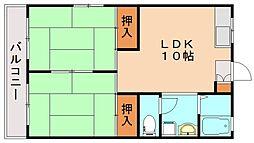 レガンツァ飯塚[1階]の間取り