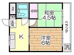 メゾン須賀[303号室]の間取り