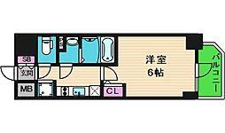 エスリード大阪城クローグ 14階1Kの間取り