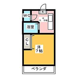 ウイステリア新瑞[4階]の間取り