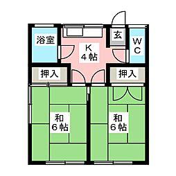 加藤アパート[2階]の間取り