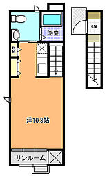 プリムラ[202号室]の間取り
