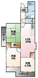 甲子園六番館[1階]の間取り