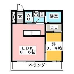 竜美丘Residence[2階]の間取り