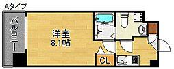 Osaka Metro四つ橋線 玉出駅 徒歩1分の賃貸マンション 12階1Kの間取り
