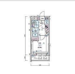 JR山手線 恵比寿駅 徒歩9分の賃貸マンション 3階1Kの間取り