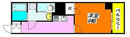 ヴェル・ドミール小阪301号室[3階]の間取り