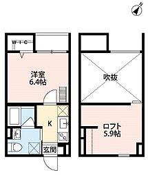 ユースビレッジ神戸長田[2階]の間取り
