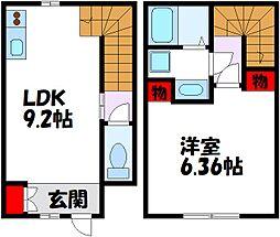 博多なでしこ町屋 2階1LDKの間取り