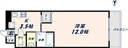 大阪府東大阪市荒本新町の賃貸マンションの間取り