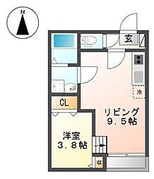 FERIO平安通[2階]の間取り