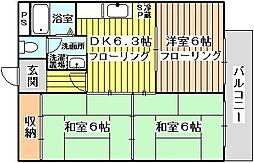 コーポラスサニーサイド[2階]の間取り