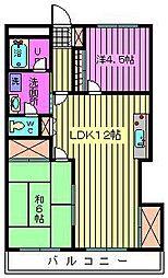 埼玉県さいたま市見沼区東大宮1丁目の賃貸マンションの間取り