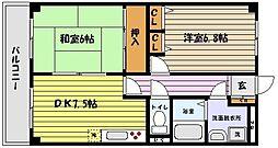 兵庫県神戸市東灘区魚崎中町2丁目の賃貸マンションの間取り