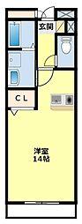 愛知県豊田市御幸本町7丁目の賃貸アパートの間取り