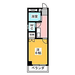 服部マンション[3階]の間取り